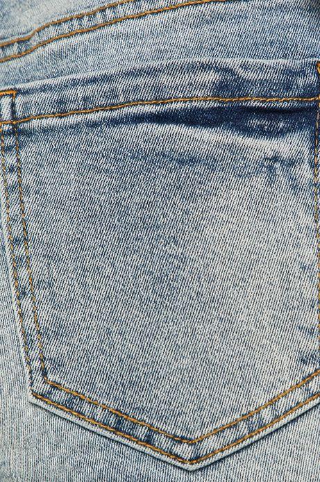Jeansy damskie mom fit niebieskie