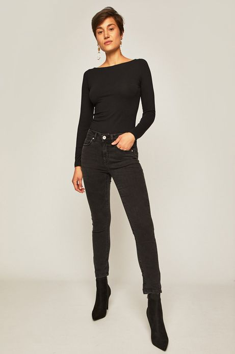 Jeansy damskie  straight czarne