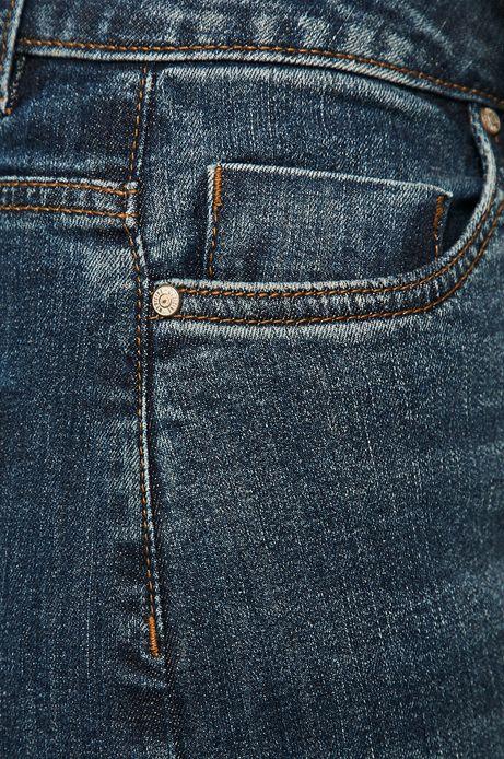 Jeansy damskie z podwyższoną talią niebieskie