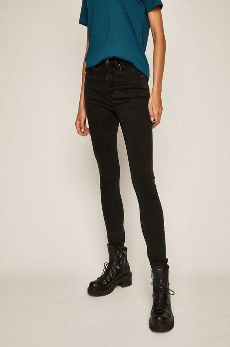 Jeansy damskie z podwyższoną talią czarne