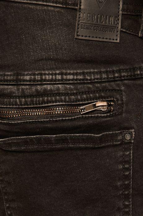 Jeansy męskie slim fit czarne