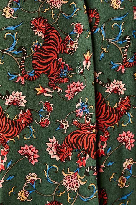 Piżama damska wzorzysta turkusowa