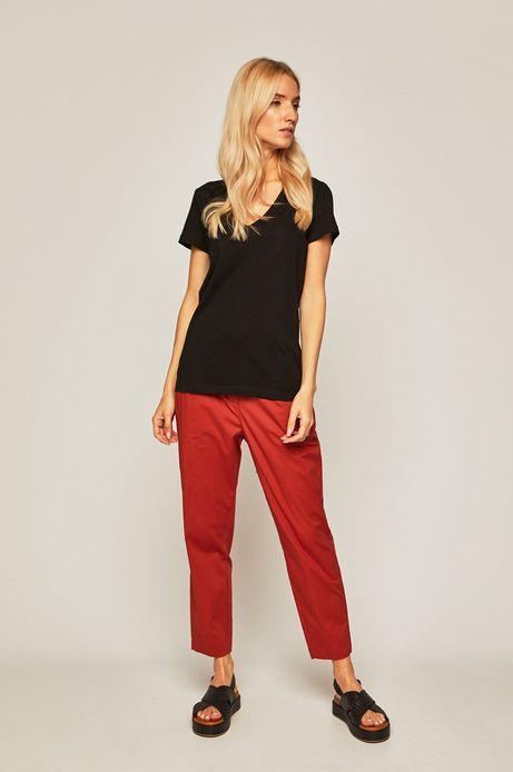 Spodnie damskie z podwyższonym stanem rude