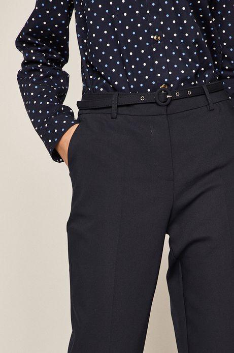 Spodnie damskie ze zwężanymi nogawkami granatowe