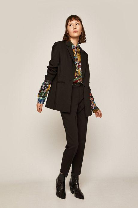 Spodnie damskie ze zwężanymi nogawkami czarne