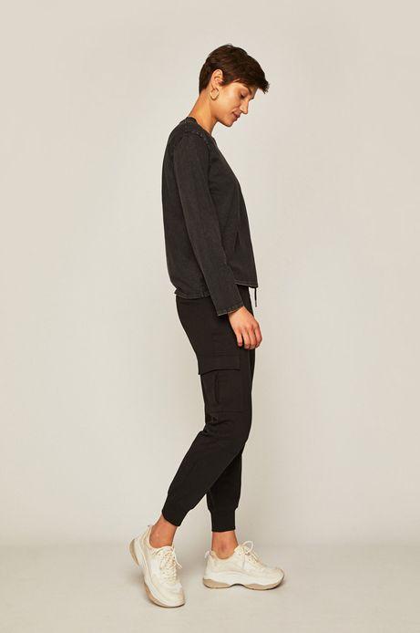 Spodnie damskie cargo czarne