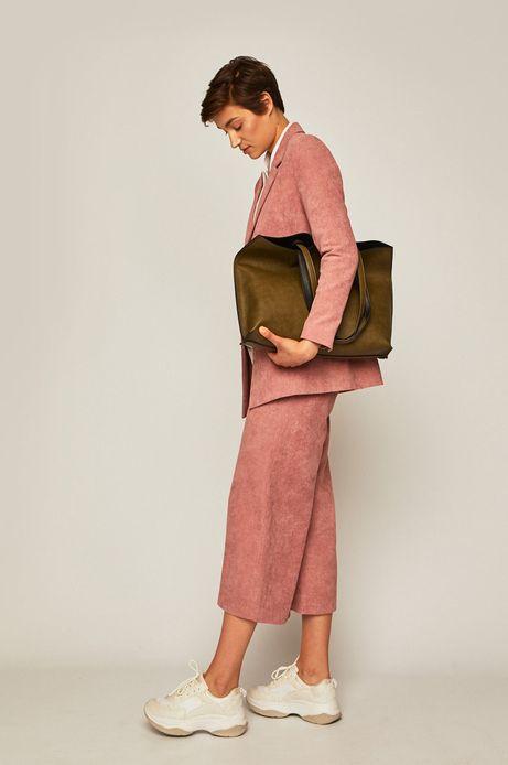 Spodnie damskie culottes różowe