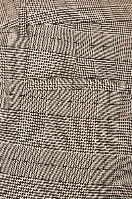 Spodnie damskie w kratkę szare