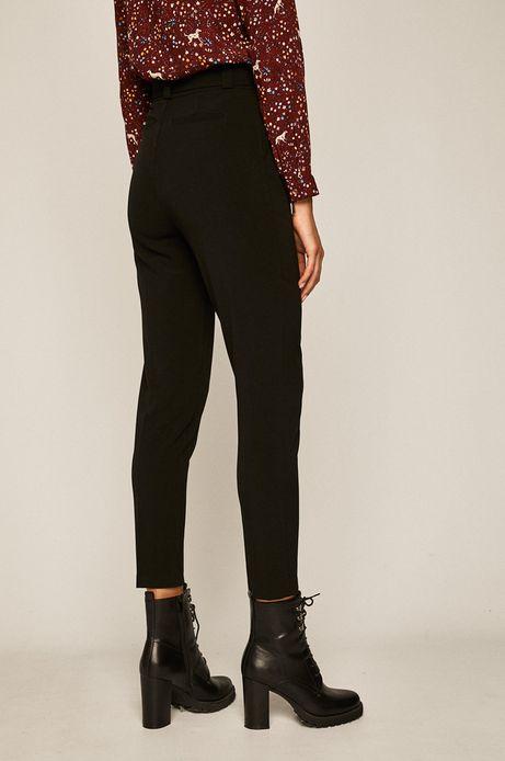 Spodnie damskie z podwyższonym stanem czarne