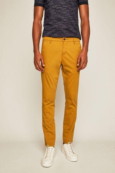 Spodnie męskie żółte