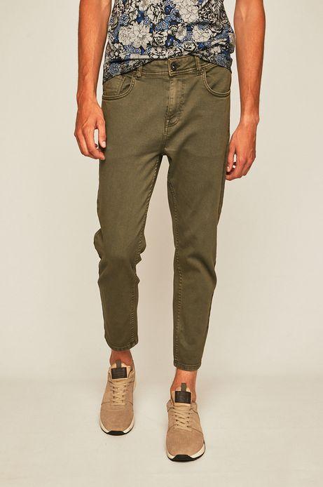 Spodnie męskie tapered zielone