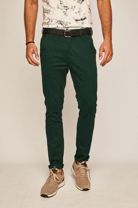 Spodnie męskie slim turkusowe