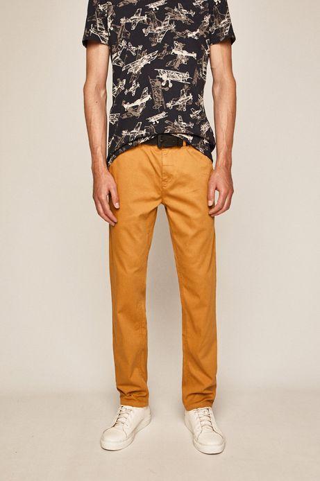 Spodnie męskie regular żółte