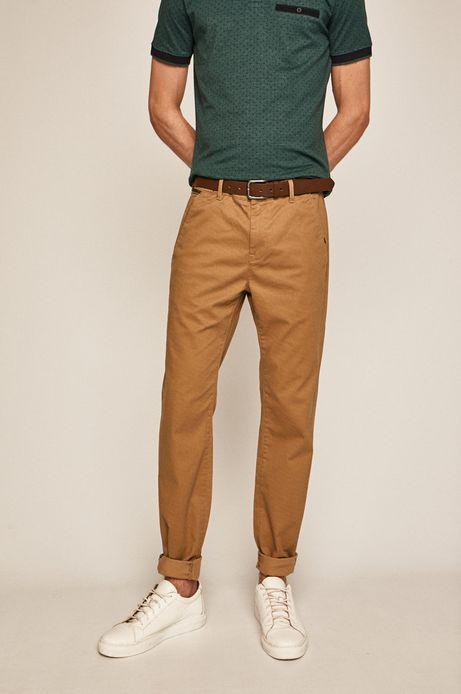 Spodnie męskie regular beżowe