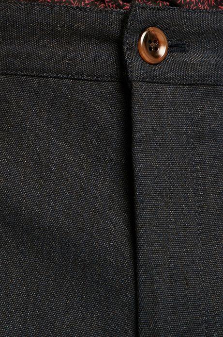 Spodnie męskie slim granatowe
