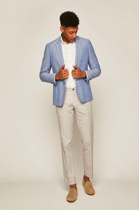 Spodnie męskie lniane szare