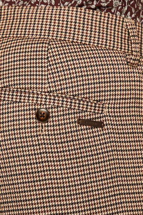 Spodnie męskie slim wzorzyste