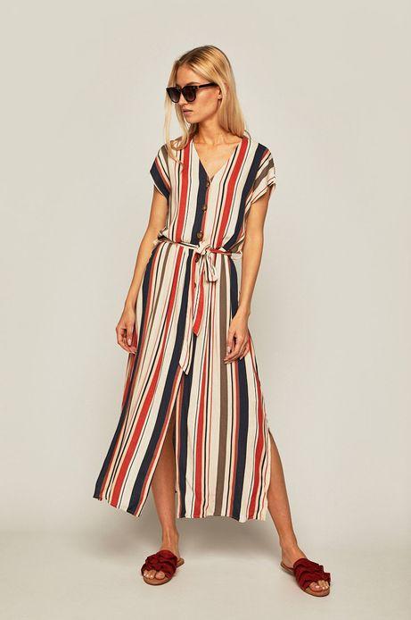 Sukienka damska z guzikami w paski