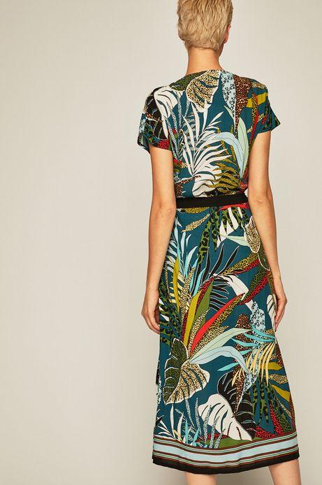 Sukienka damska z kopertowym dekoltem