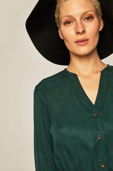 Sukienka damska z rękawem 3/4 zielona