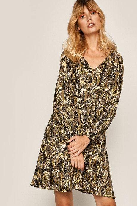 Sukienka damska w wężowy wzór