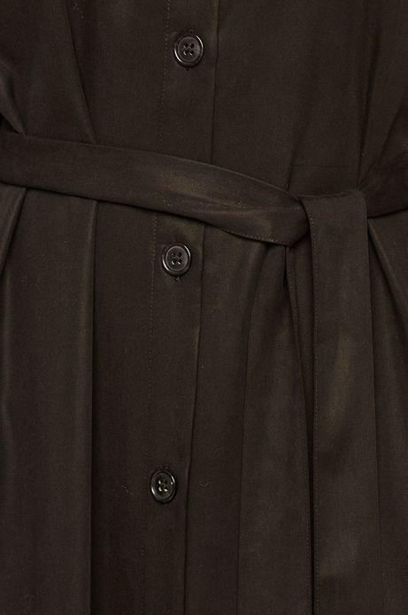 Sukienka damska z kołnierzykiem czarna