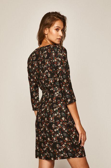 Sukienka damska z długim rękawem w kwiaty
