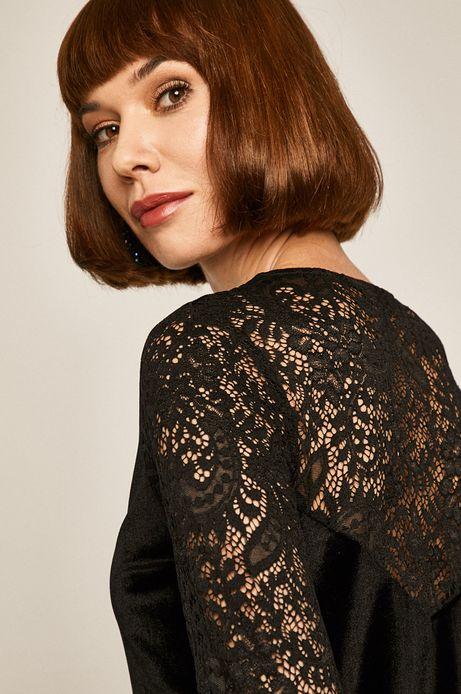 Sukienka damska welurowa czarna