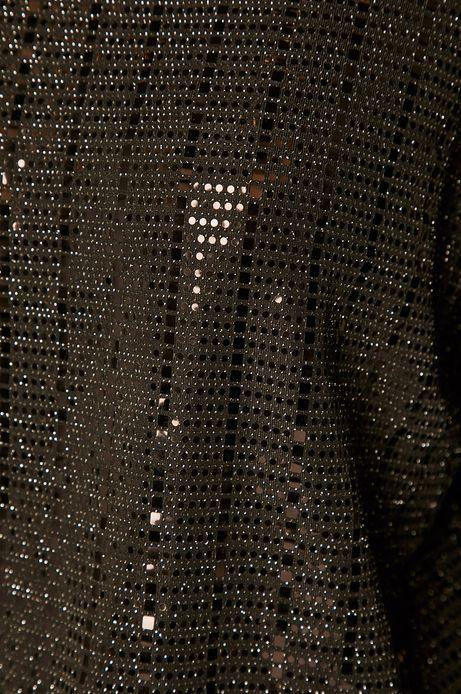 Sukienka damska z dekoltem typu łódka czarna