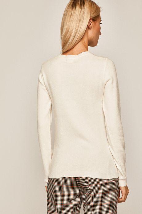 Sweter damski kremowy