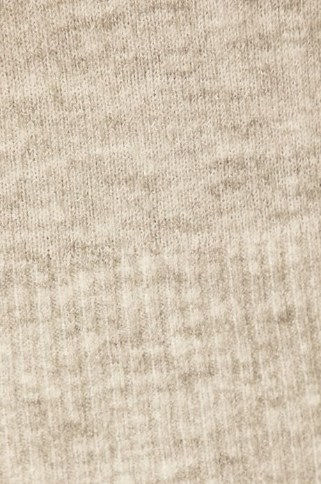 Sweter damski z okrągłym dekoltem szary