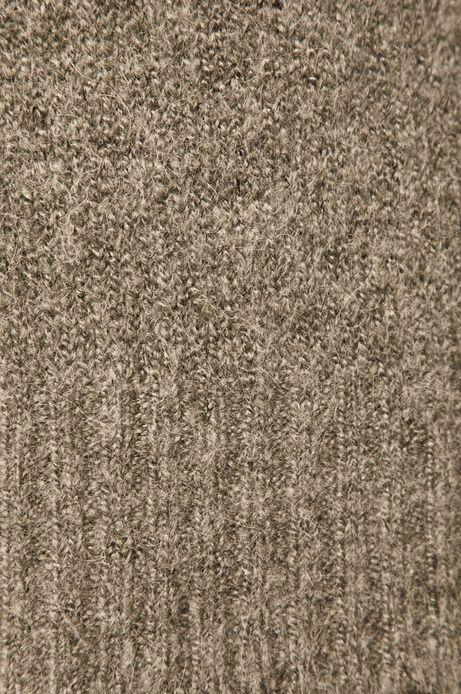 Sweter damski z domieszką wełny szary