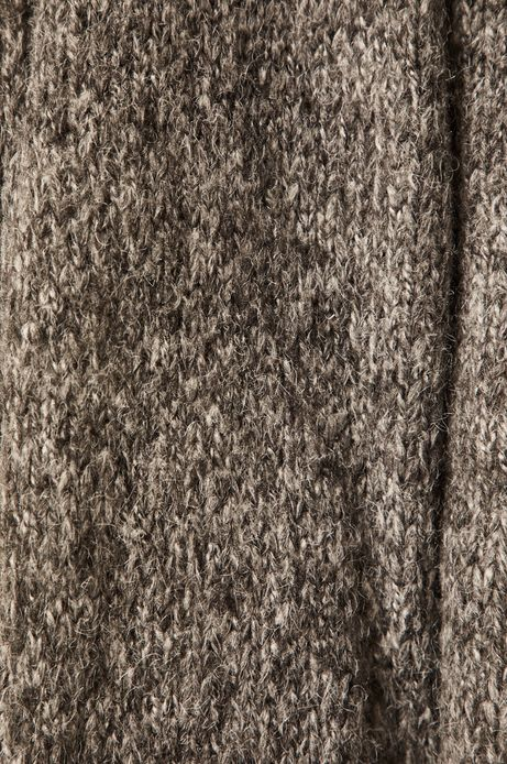 Sweter damski z kołnierzem szary