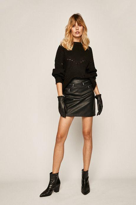 Sweter damski czarny