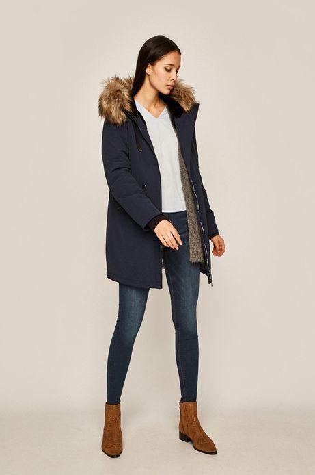 Sweter damski z rozcięciami szary