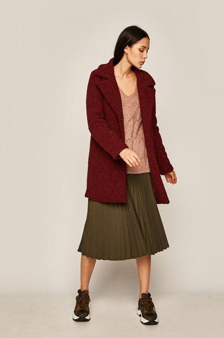 Sweter damski z domieszką wełny różowy
