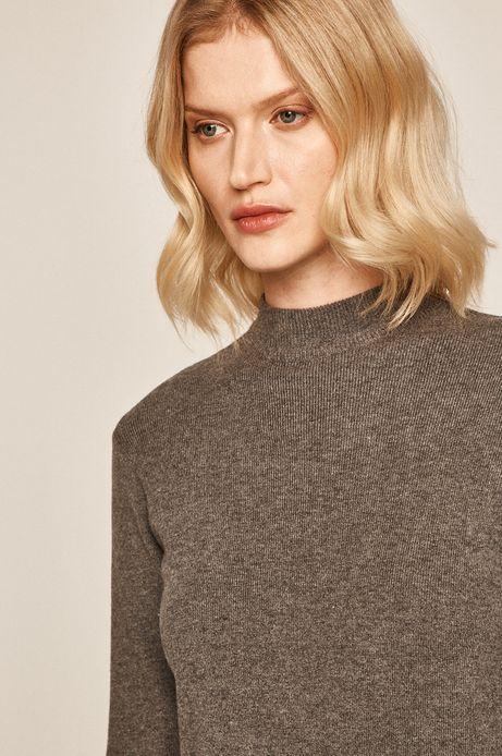Sweter damski z półgolfem szary