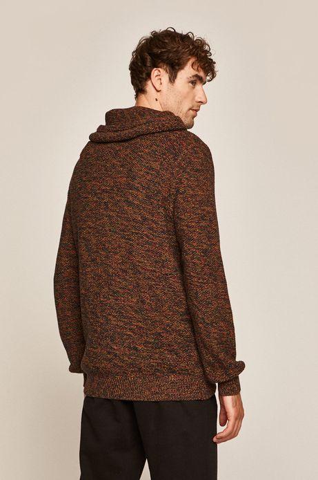 Sweter męski z podwyższonym kołnierzem