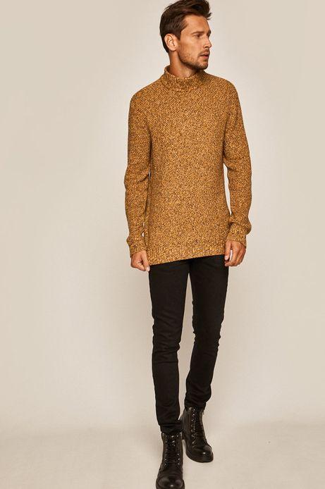 Sweter męski z półgolfem