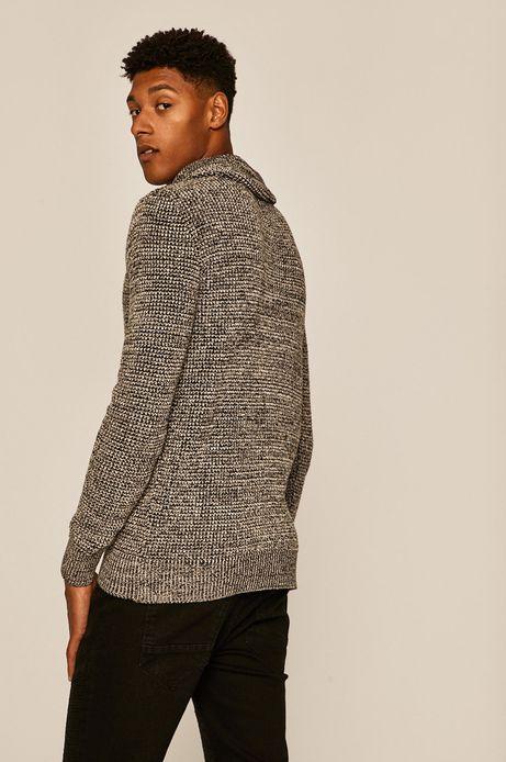 Sweter męski z podwyższonym kołnierzem szary