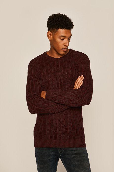 Sweter męski bordowy