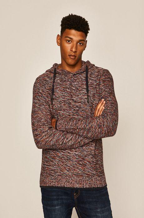 Sweter męski z kapturem