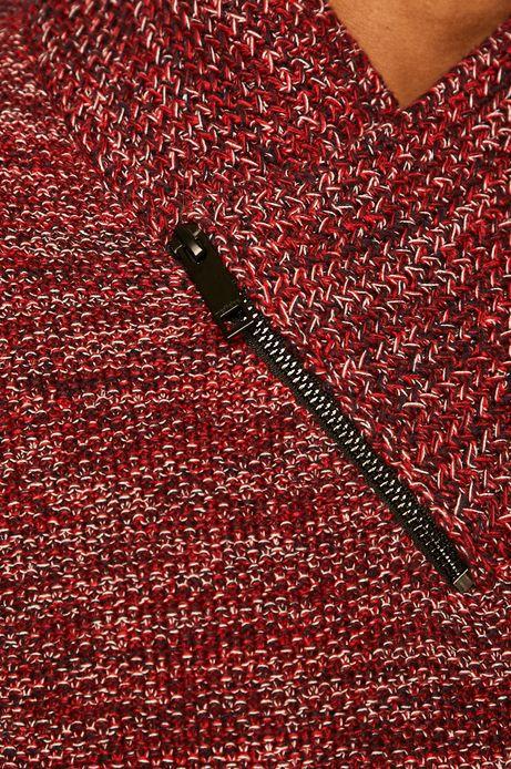 Sweter męski z kołnierzem czerwony