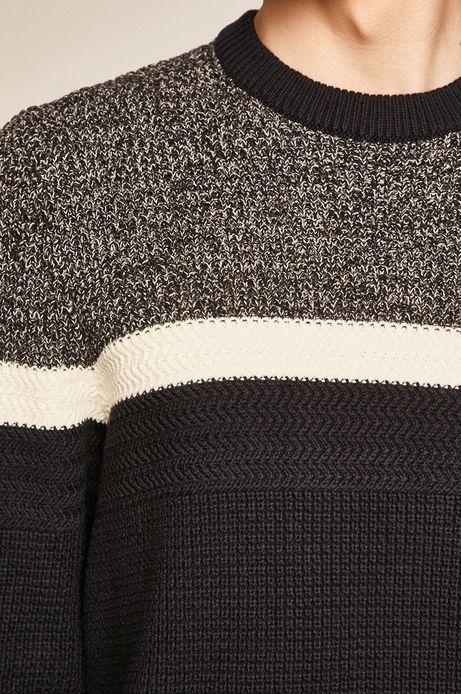 Sweter męski granatowy
