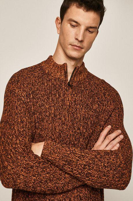 Sweter męski pomarańczowy