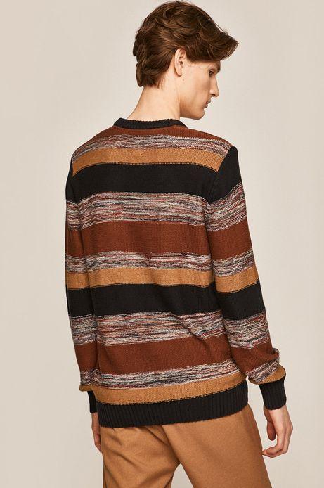 Sweter męski z warkoczowym splotem