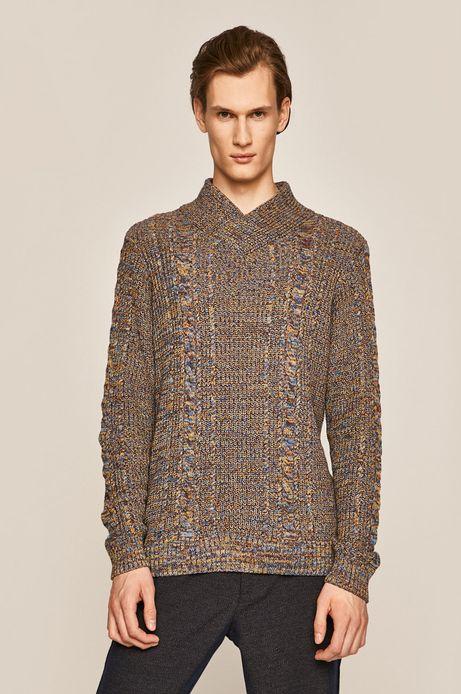 Sweter męski ze spiczastym dekoltem