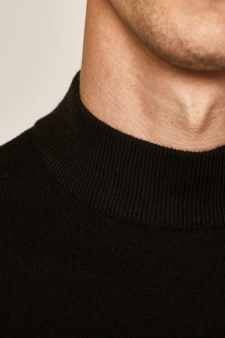 Sweter męski wełniany czarny