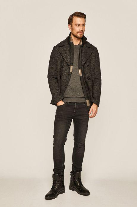 Sweter męski wełniany szary