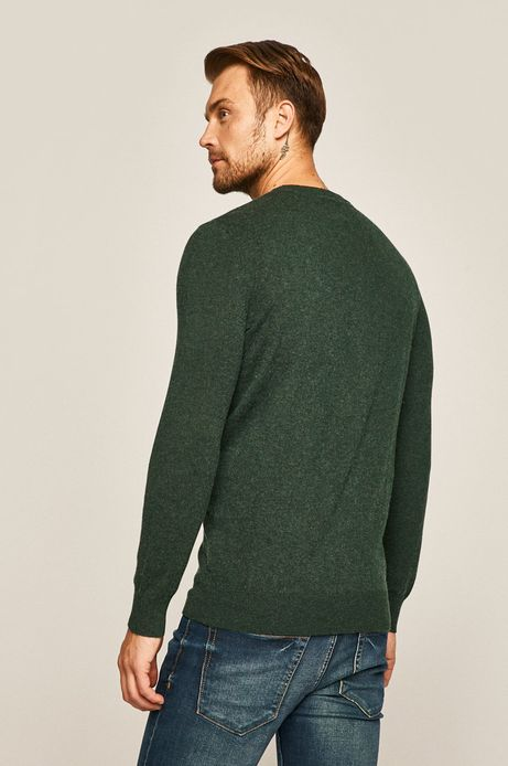 Sweter męski wełniany zielony